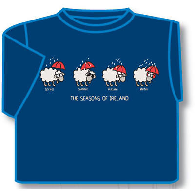 Kids The Seasons of Ireland Irish T-Shirt - Blue