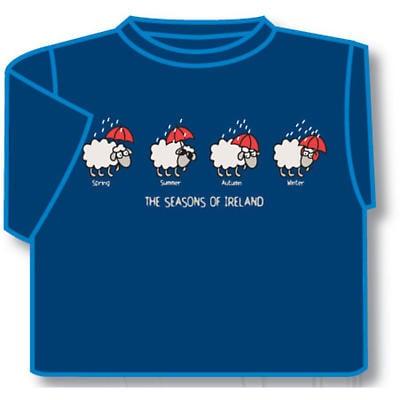Kids The Seasons of Ireland Irish T-Shirt - Blue