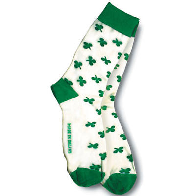 Ladies All Over Shamrock Socks