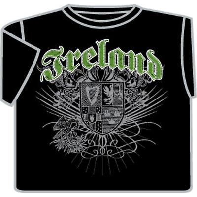 Irish T-Shirt - Ireland Tattoo (Black)