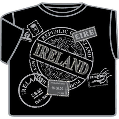Ireland Passport Stamp T-Shirt