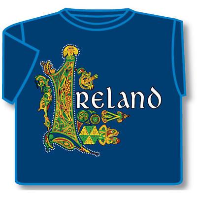 Irish T-Shirt - Celtic Ireland (Blue)