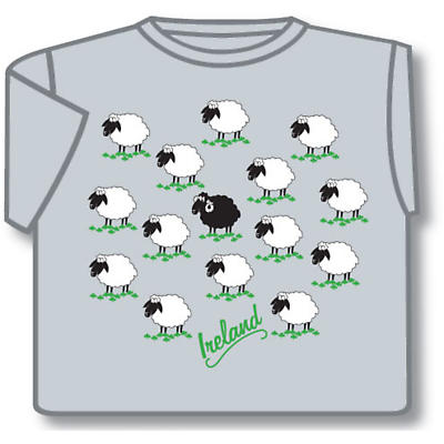 Ireland Field of Sheep T-Shirt Grey