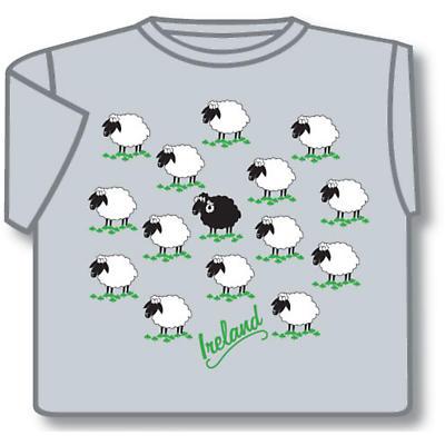 Ireland Field of Sheep T-Shirt Grey