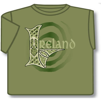 Irish T-Shirt - Celtic Ireland (Olive Green)