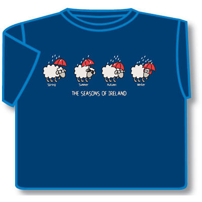 Irish T-Shirt - The Seasons Of Ireland (Blue)