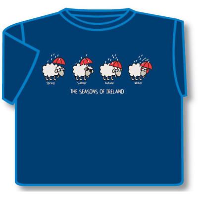 Irish T-Shirt - The Seasons Of Ireland (Blue)