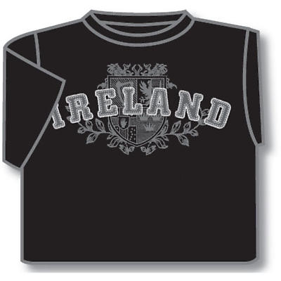 Irish T-Shirt - Ireland 4 Provinces (Black)