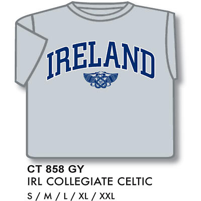 Ireland Celtic Collegiate T-Shirt Grey Blue