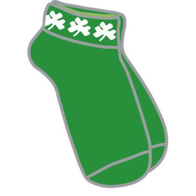 Ladies Shamrock Ankle Socks - Green