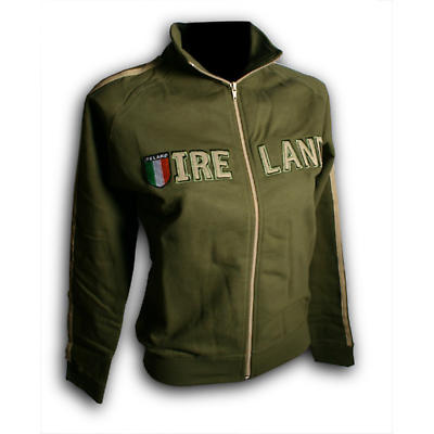 Ladies Ireland Shield Jacket - Olive Green