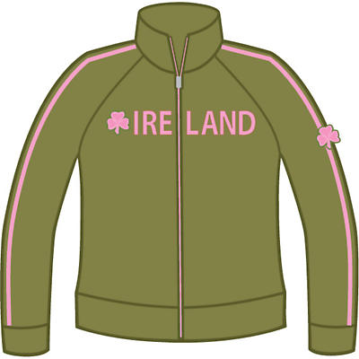 Ladies Shamrock Ireland Jacket - Olive Green