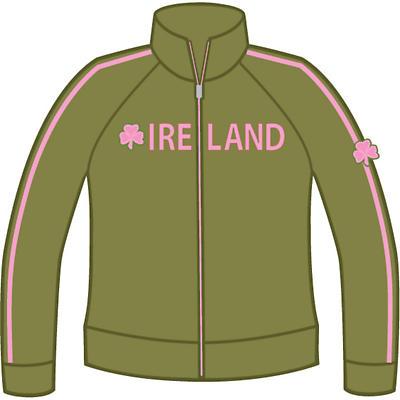 Ladies Shamrock Ireland Jacket - Olive Green