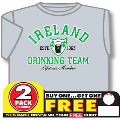 Irish T-Shirt - 2 for 1 Ireland Drinking Team