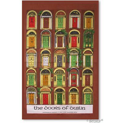 Doors of Dublin Tea Towel
