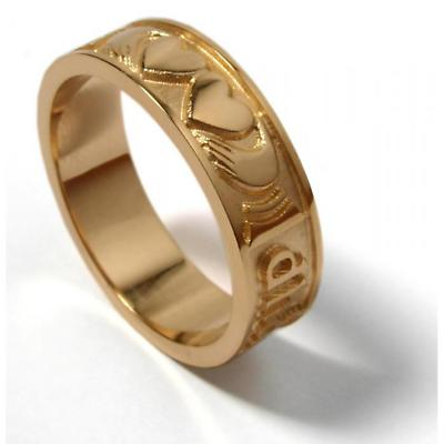 """10k Yellow Gold Ladies """"Two Hearts Together"""" Ring"""