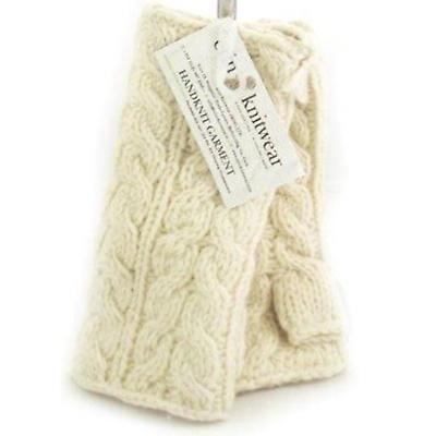 Irish Wool Handwarmers Aran - White