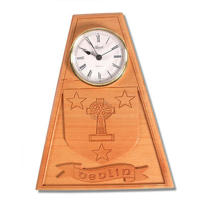 Personalized Family Crest Wood Clock