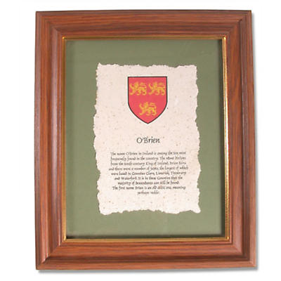 Single Family Crest and History Framed Print