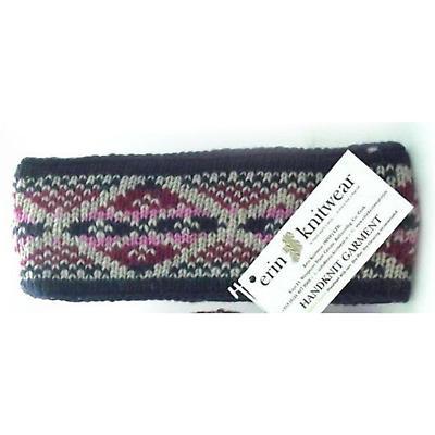 Irish Wool Headband - Blue Pink