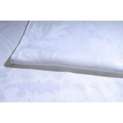 Irish Linen Tablecloth - Irish Rose Hibernia Collection White Tablecloth 64 inch x 104 inch
