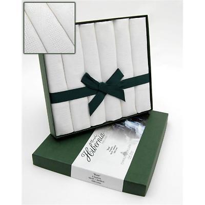 Irish Linen Napkins - Irish Rose Hibernia Collection Box of 6 18 x 18 inch Napkins