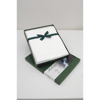 Irish Linen Tablecloth - Irish Rose Hibernia Collection White Tablecloth 64 inch x 84 inch