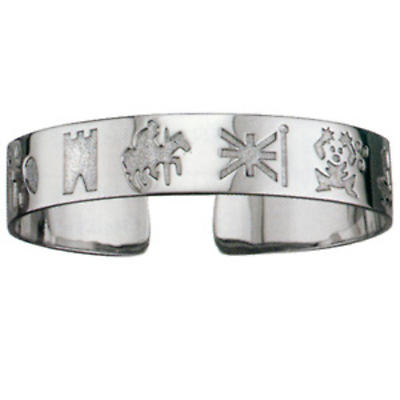 Sterling Silver History of Ireland Bangle