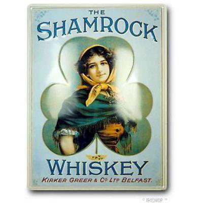 Shamrock Whiskey Medium Pub Sign