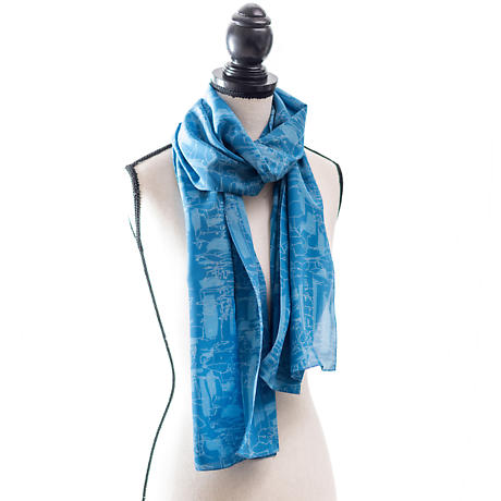 Irish Clothing | Giants Causeway Pattern 100%  Silk Scarf