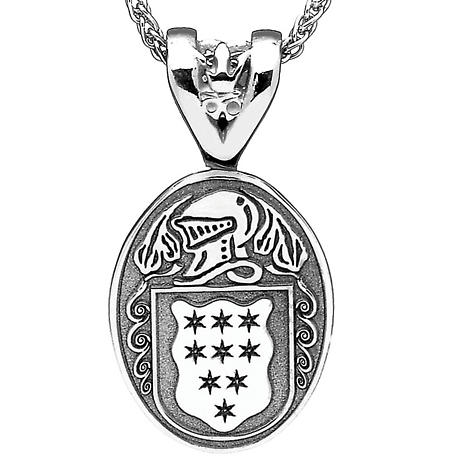 Irish Coat of Arms Jewelry Oval Necklace