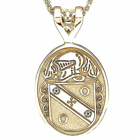 Irish Coat of Arms Jewelry Oval Necklace Large