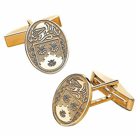 Irish Coat of Arms Jewelry Oval Cufflinks