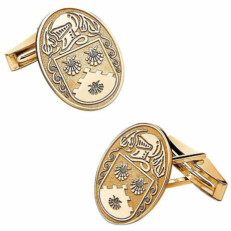 Irish Coat of Arms Jewelry Oval Cufflinks Large