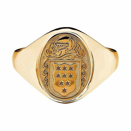 Irish Coat of Arms Jewelry | Ladies Solid Heavy Ring