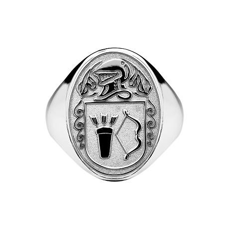 Irish Coat of Arms Jewelry | Mens Oval Shield Solid Heavy Ring