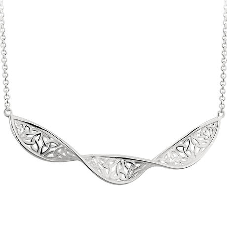 Irish Necklace | Sterling Silver Celtic Trinity Knot Twist Necklet