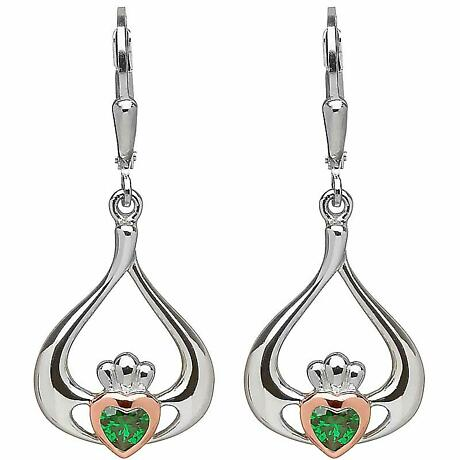 Irish Earrings | Real Irish Gold & Sterling Silver Claddagh Earrings by House of Lor