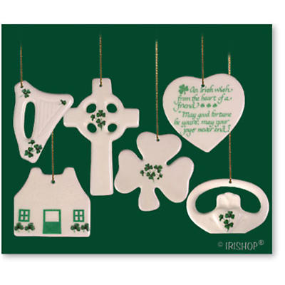 Symbols of Ireland Christmas Ornament Set
