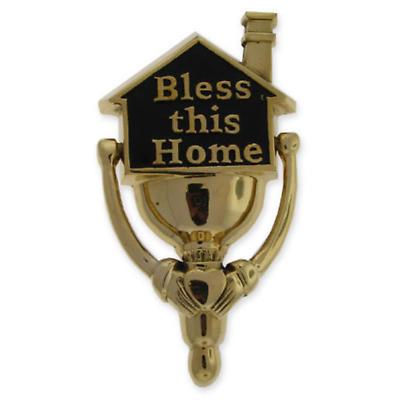 Bless this Home Brass DoorKnocker