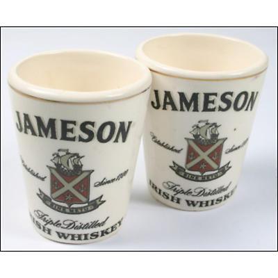 Set of 2 Fine Bone China Jameson Shot Glasses