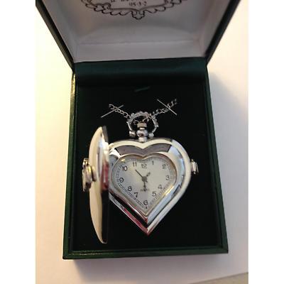 Irish Watch - Ladies Claddagh Heart Shaped Watch by Mullingar Pewter