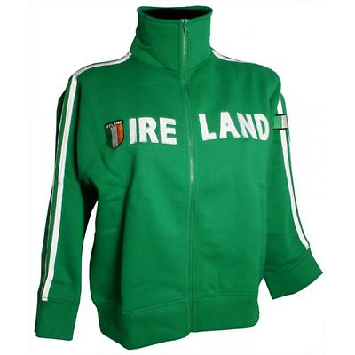 Ireland Premium Green Tricolor Zip Jacket