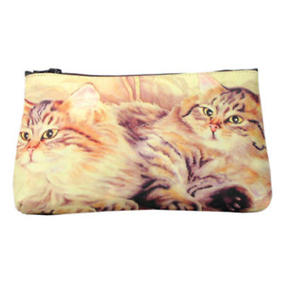 Leather Cosmetic Bag - Cats