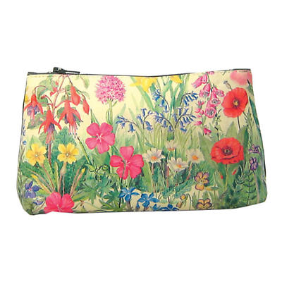 Leather Cosmetic Bag - Wildflowers