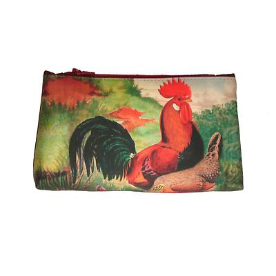 Leather Cosmetic Bag - Rooster