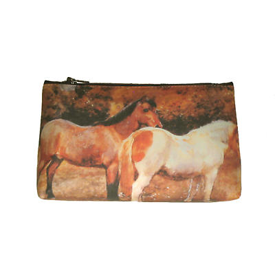 Leather Cosmetic Bag - Ponies
