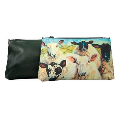 Leather Cosmetic Bag - Irish Sheep