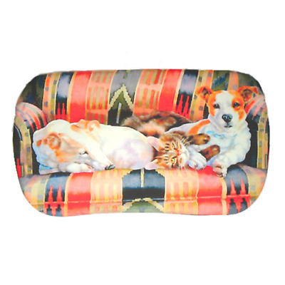 Leather Irish Glasses Case Cats and Dogs