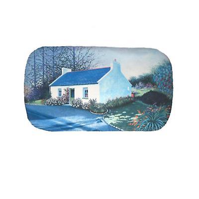 Leather Glasses Case - Irish Cottage